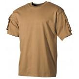 Футболка армии США, с карманами на рукавах, цвет койот