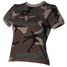 Футболка армии США, женская, цвет лесной камуфляж