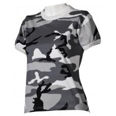 Футболка армии США, женская, цвет городской камуфляж