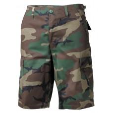 Мужские шорты-бермуды с карманами  армии США, цвет лесной камуфляж