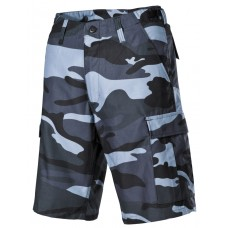Мужские шорты-бермуды с карманами  армии США, цвет синий камуфляж