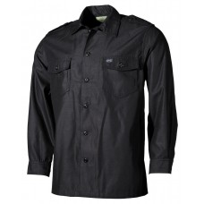 Американская армейская рубашка с длинными рукавами, черная