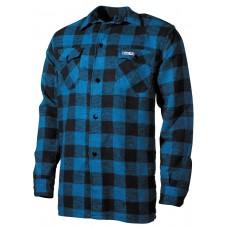 Клетчатая рубашка сине-черного цвета