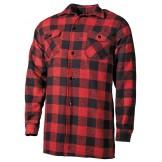 Клетчатая рубашка красно-черного цвета