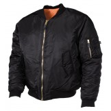 Американская куртка пилота, черная