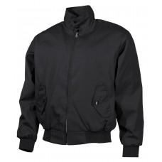 Куртка в английском стиле на молнии, с подкладкой, черная