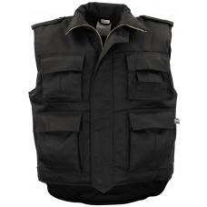 Американский армейский жилет с карманами, черный