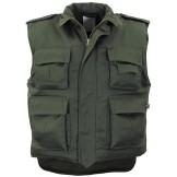 Американский армейский жилет с карманами, зеленый