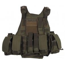 Армейский жилет с сумками и карманами, зеленый