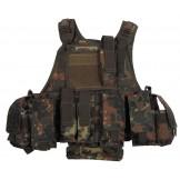 Армейский жилет с сумками и карманами, камуфляж Бундесвера