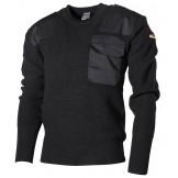Пуловер Бундесвера, 80% шерсть, 20% акрил, черный