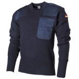 Пуловер Бундесвера, 80% шерсть, 20% акрил, синий