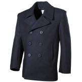 Американское армейское пальто с пластиковыми пуговицами, синее