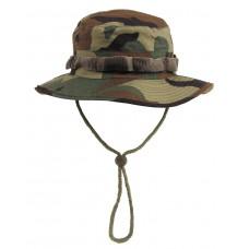 Американская шляпа с ремешком для подбородка, лесной камуфляж