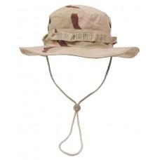Американская шляпа с ремешком для подбородка, камуфляж пустыня (3 цвета)
