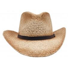 Соломенная шляпа, коричневая, с ремешком, один размер, подходит всем