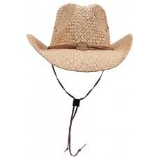 Соломенная шляпа, светло-коричневая, ремешок для подбородка, один размер