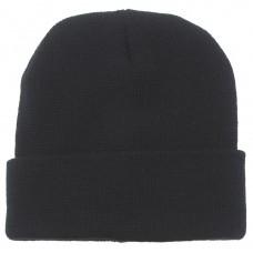 Вязаная шапка, шерсть, черная
