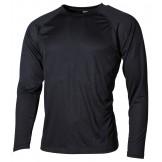 Американская нательная футболка с длинным рукавом черного цвета