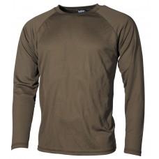 Американская нательная футболка с длинным рукавом, цвет олива