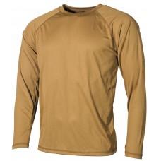 Американская нательная футболка с длинным рукавом, цвет койот