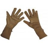 Тактические перчатки Бундесвер, кожаная отделка, цвет койот