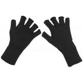 Вязаные перчатки без пальцев черного цвета