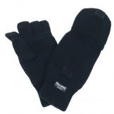 Вязаные перчатки / рукавицы, черные