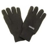 Вязаные перчатки, цвет олива