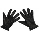 Кожаные перчатки, черные, с вставками кевлара