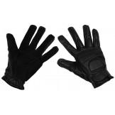Кожаные перчатки, черные