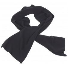 Шерстяной шарф, черный, 160x25 см