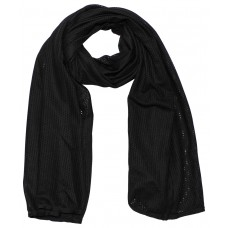 Шарф , черный, 160 х 70 см