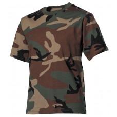 Детские футболки, с короткими рукавами, лесной камуфляж