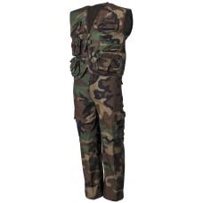 Набор для детей, брюки и жилет, лесной камуфляж