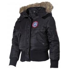Американская детская полярная куртка, черная, с меховым воротником
