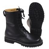 Военные ботинки из натуральной кожи, кожаная подкладка, черные