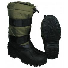 Термо ботинки с резиновой подошвой, зеленые
