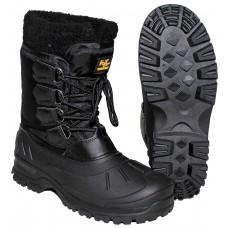 Термо ботинки с резиновой подошвой, черные