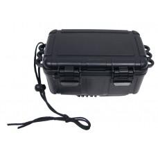 Коробка, пластиковая, водонепроницаемая, 16,5 x12x7,5 см, черная