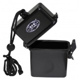 Водонепроницаемая коробка черного цвета, пластиковая, 7 х 2,5 х 11 см