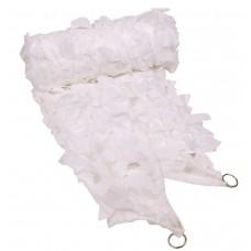 Маскировочная сетка 2х3 метра белого цвета с ПВХ чехлом