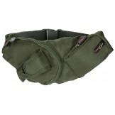 Сумка на пояс, зеленая, с карманом для мобильного телефона