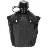 Американская пластиковая армейская фляга, 1 л , нейлоновый чехол, черная