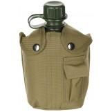 Американская пластиковая армейская фляжка, 1 л , нейлоновый чехол