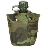Американская пластиковая армейская фляга, 1 л , нейлоновый чехол