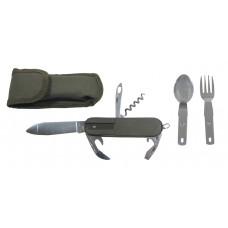 Карманный нож, вилка, ложка, консервный нож