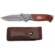 Дамасский нож Jack, кожаная ручка