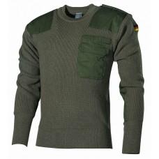 Пуловер Бундесвера, 80% шерсть, 20% акрил, зеленый